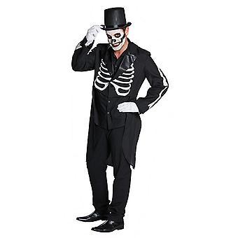 Frack skeletal skeleton jacket ripping Tuxedo Halloween costume for men