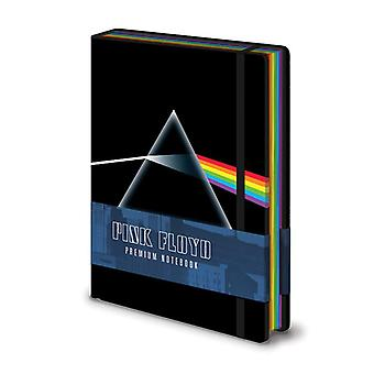 Pink Floyd Premium Notizbuch DIN A 5 Dark Side of the Moon Hardcover, Look & Feel wie Leder, gebunden, 240 Seiten blanko, mit Gummiband.
