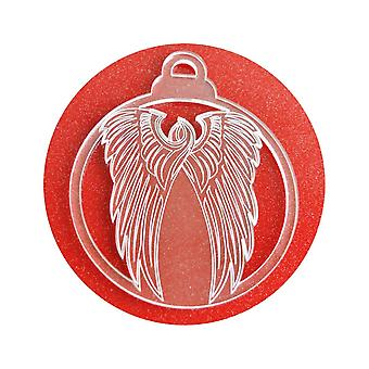 6 Pk-Angel-Wings acryl Christmas Decorations
