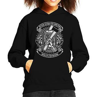Meglio urbano fresco divertente combattere Hooded Sweatshirt di citazione ispiratrice Kid
