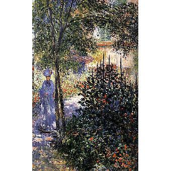 Blaue Schatten Camille im Garten in Argenteuil, Claude Monet