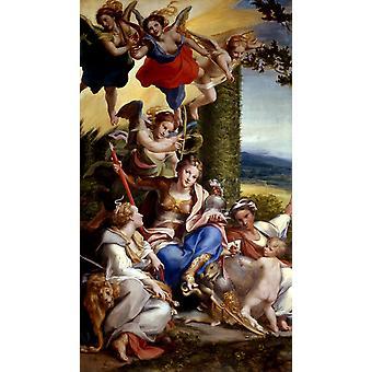 Allegorie де Вертю на La vertu heroique, Корреджо, 80x40cm