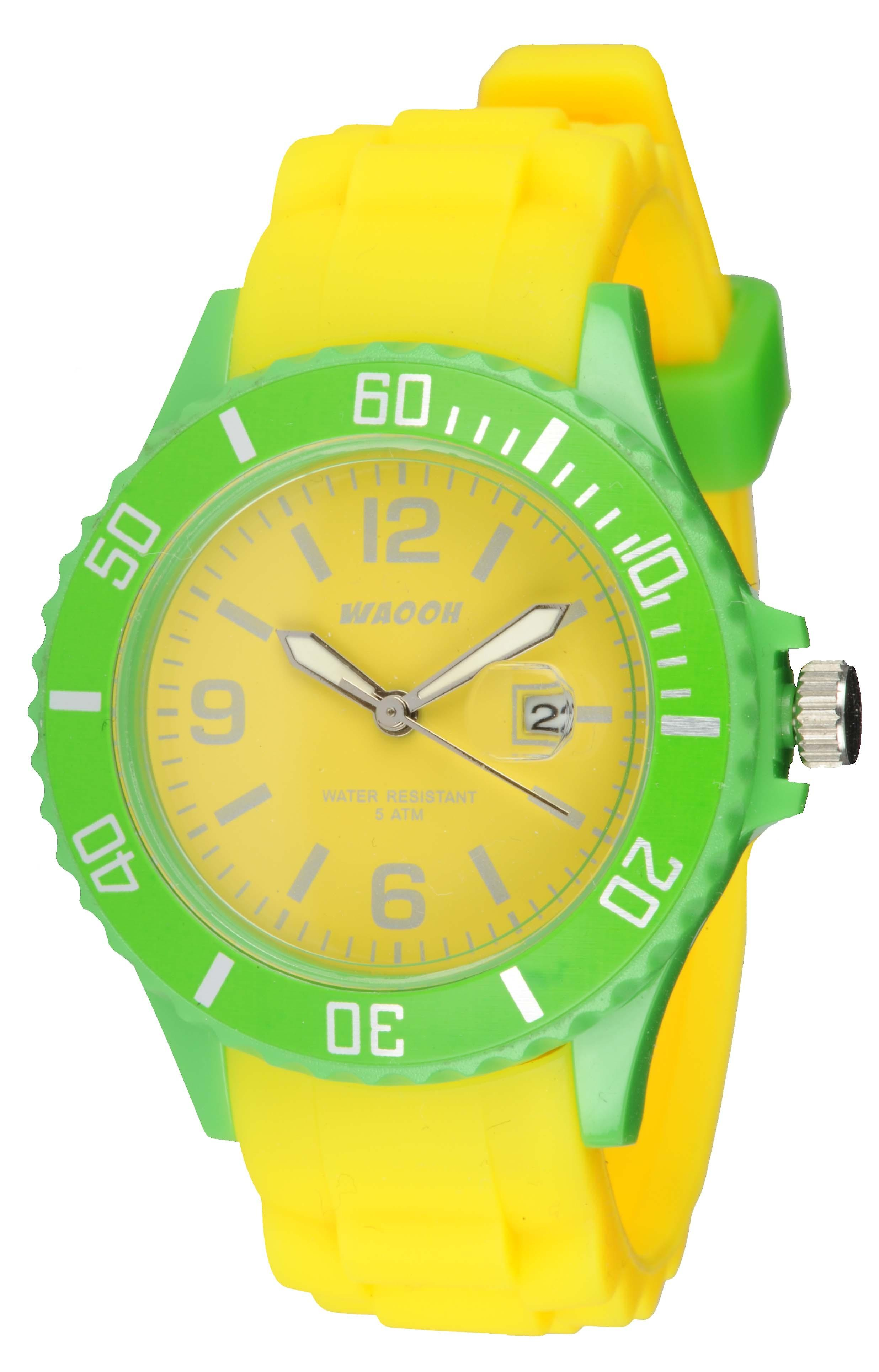 Waooh - Monaco34 Watch - Two Tone & Green
