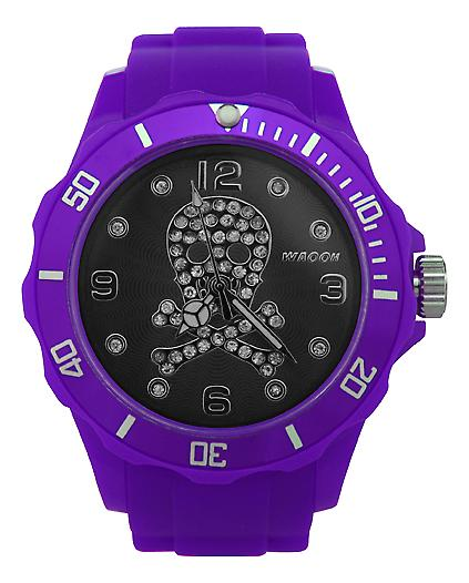 Waooh - Watch Skull Rhinestone Black Dial 39