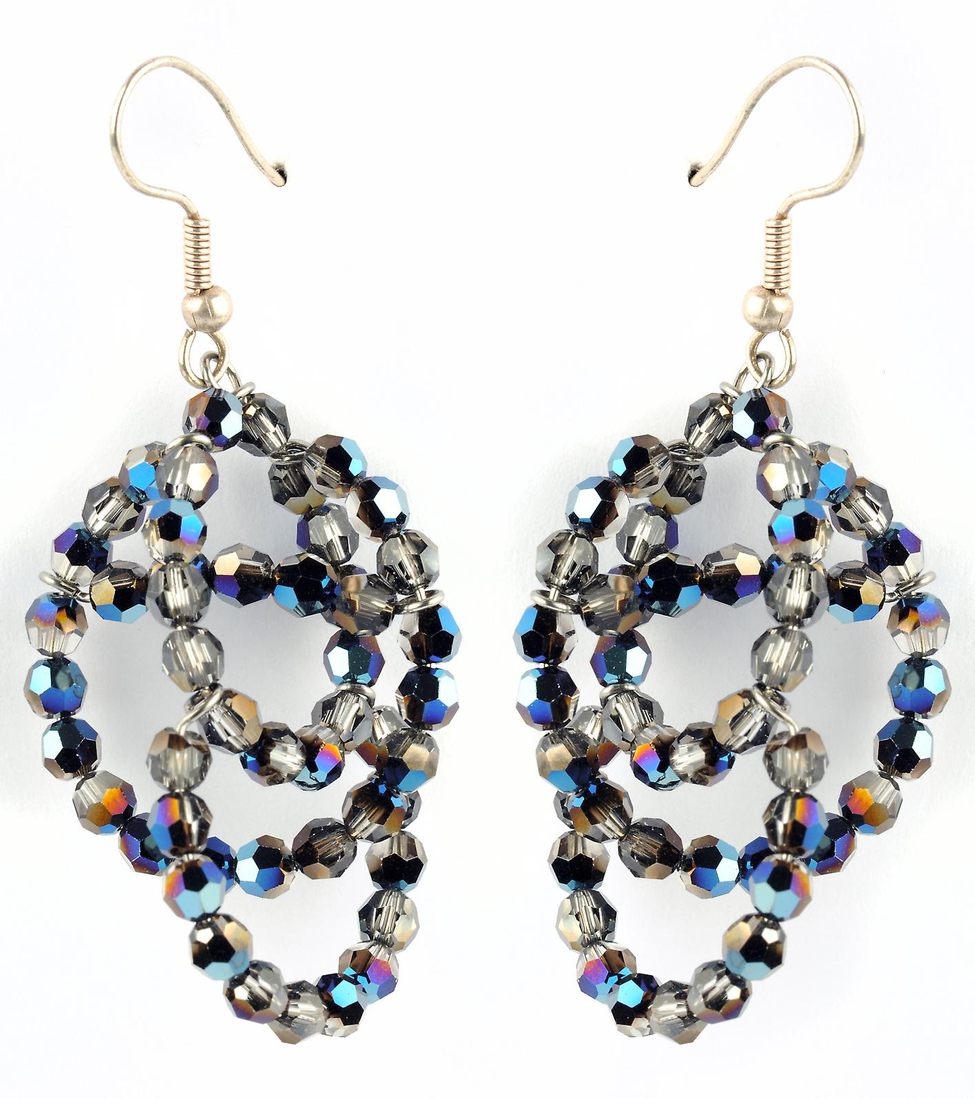 Waooh - Fashion Jewellery - WJ0748 - On Earrings with Swarovski Color Silver Iridium - Frame Color Silver