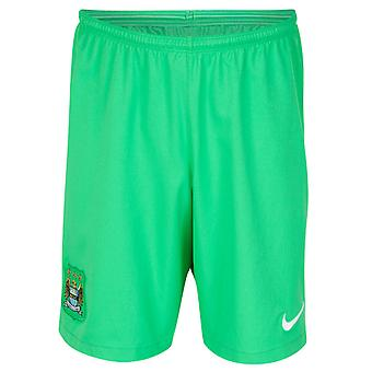 2014-2015 Man City Home Nike Torwart Shorts (grün)