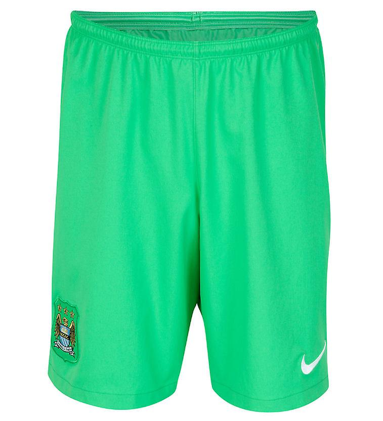 2014-2015 Man City Home Nike Goalkeeper Shorts (Green)