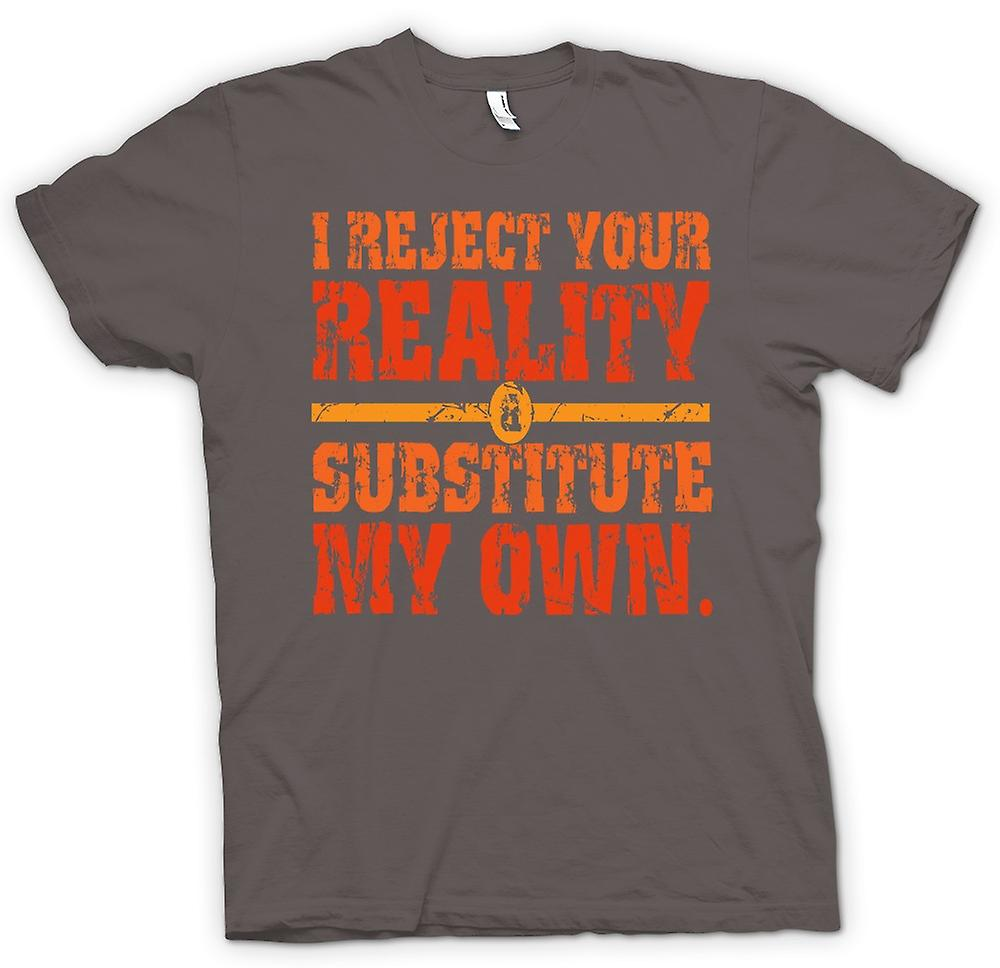 Womens T-shirt - I Reject Your Reality - Mythbusters