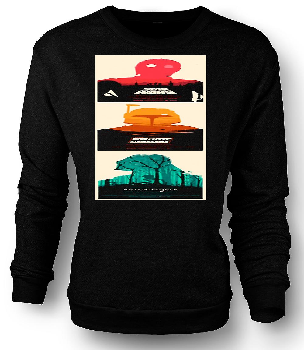 Mens Sweatshirt Star Wars Trilogy - Retro - B Movie - Poster