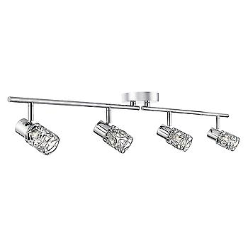 Searchlight 7714CC Mesh Spot II 4 way Semi Flush Ceiling Light Chrome