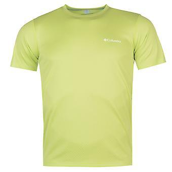 Columbia Mens noll T Shirt Kortärmad prestanda Tee topp runda nacke