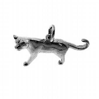 Silver 20x30mm solid Mountain Lion Pendant or Charm