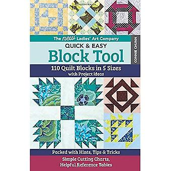 The New Ladies' Art Company Quick & Easy Block� Tool: 110 Quilt Blocks in� 5 Sizes with Project Ideas - Packed with Hints,� Tips & Tricks - Simple Cuttin