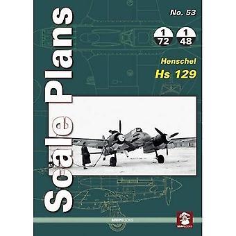 Scale Plans No. 53: Henschel Hs 129 (Scale Plans)