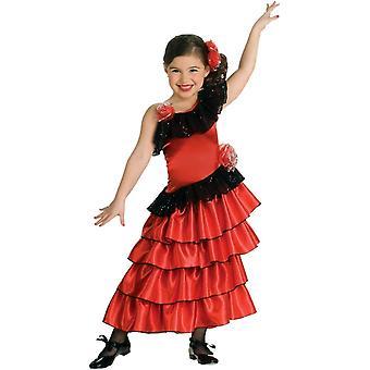 Spansk pige barn kostume
