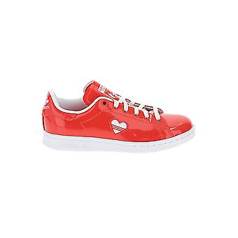 Adidas Red Leather Sneakers