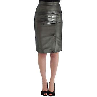 Gf Ferre Silver Straight Pencil Skirt -- SIG1785285