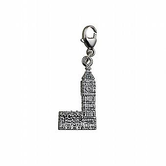 Silver 20x11mm Big Ben Charm on a lobster trigger
