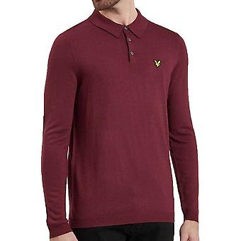 Lyle And Scott Knitted poloshirt Claret Jug