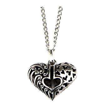 Fretwork Heart Pendant