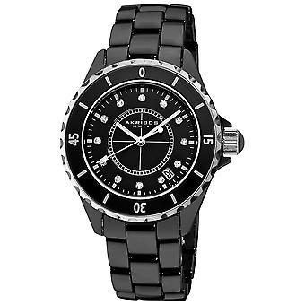 Akribos XXIV Women's Quartz Matte Dial Bracelet Watch AK484BK