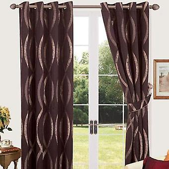 Comfort Collection Eyelet Curtain - Wavy