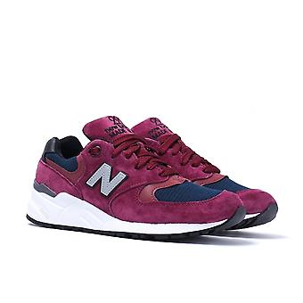 New Balance 999 Made In The USA Burgundy & White Trainers