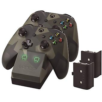 Venom Xbox One Twin docking station med 2 x genopladelige batteripakker: camo Edition (Xbox One)