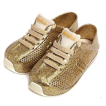 Melissa Shoes Mini Melissa Love System 18 Trainers, Gold Glitter