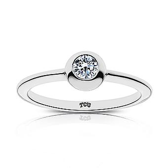 Texas Christian University - Tcu graviert Diamant-Ring