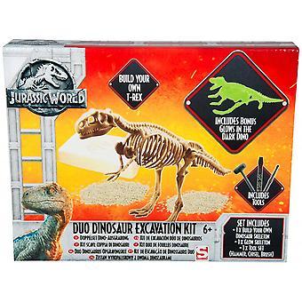 Kit de excavación de dinosaurios del Dúo Mundial Jurásico