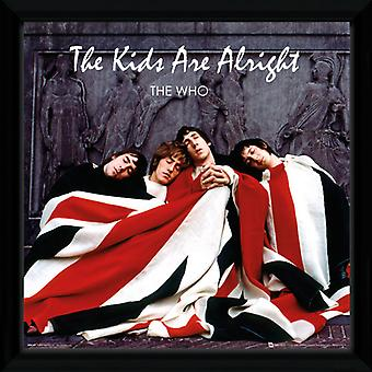 De Who The Kids Are Alright Framed Album Cover Print 12x12in