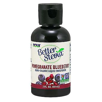 Now Foods Better Stevia Liquid Extract Pomegranate blueberry 60 ml (Dieet , Zoetstoffen)