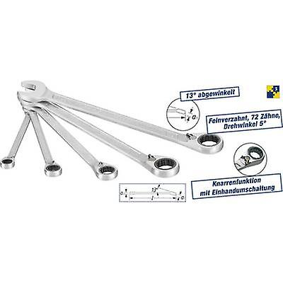Ratcheting crowfoot wrench set 5-piece 8 - 19 mm Hazet 606 5