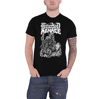 Hooded Menace T shirt Reanimated door Death band logo nieuwe officiële mens zwart