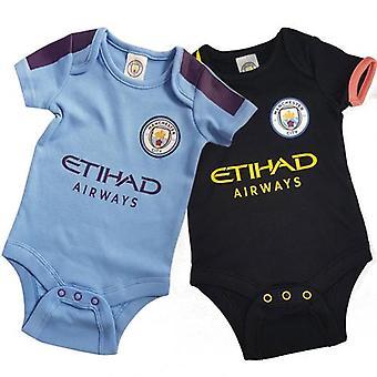 Manchester City 2 Pack Bodysuit 12/18 mths PL