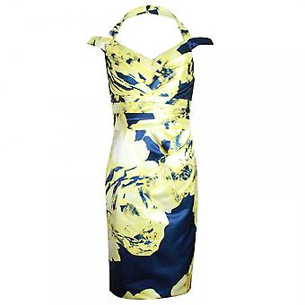 Veromia Occasions Halter Neck Floral Print Dress