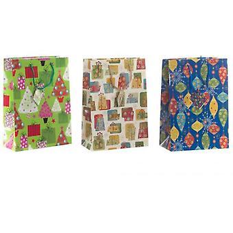 Wellindal Glossy Paper Bag Christmas 3 Models