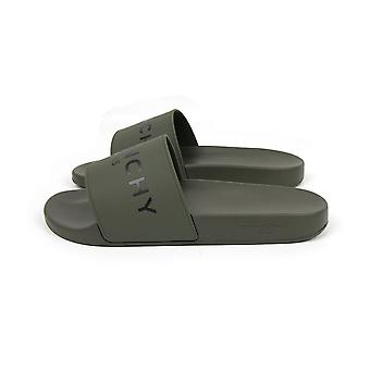 Givenchy glij-platte sandalen donker kaki