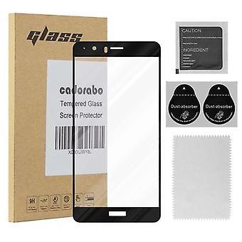 Cadorabo koko näytön säiliö folio Honor V8-karkaistu näyttö suojaava lasi 9H kovuus 3D Touch yhteensopivuus