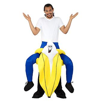 Mens Piggyback Banana Fancy Dress Costume