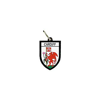 Porte Cles Clefs Cle Drapeau Collection Ville Blason Anglais Cardiff
