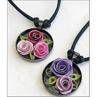 Quilling Kit Romantic Roses Necklace Q280