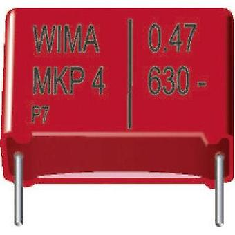 MKP thin film capacitor Radial lead 0.33 µF 400 Vdc 20 % 15 mm (L x W x H) 18 x 8 x 15 mm Wima MKP4 1 pc(s)