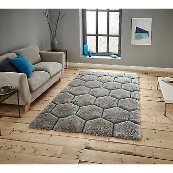 Nobel House 30782 30782 grå blå rektangel tæpper Funky tæpper