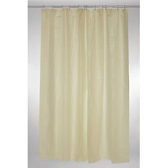 Cream Plain Polyester Shower Curtain 180 x 180cm