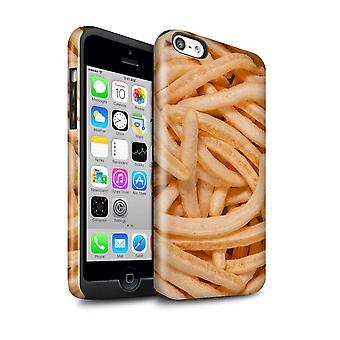 STUFF4 Gloss Tough Shock Proof Phone Case for Apple iPhone 5C/French Fries/Snacks