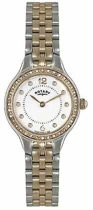 Rotary Womens Two Tone, Crystal LB02868/01 Watch