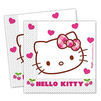 Servietten 33 x 33 cm Hello Kitty: 20 Stück