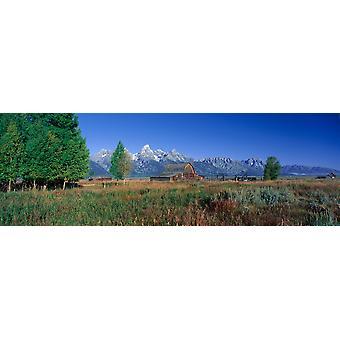 Stampa del manifesto del Wyoming Pioneer Farm Grand Teton National Park
